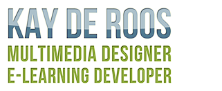 Kay de Roos – Multimedia Designer and E-Learning Developer Logo